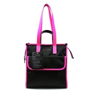 Marc Jacobs Pink and Black Nylon and leather Bag